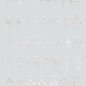 18K CZ Crosses