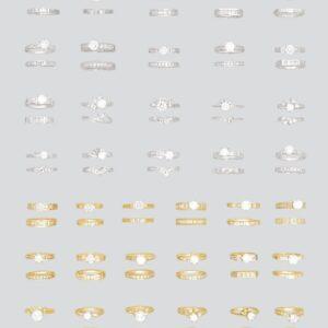 18K CZ Rings